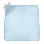 Памучна хавлия с качулка за бебе момче Bebetto 54541
