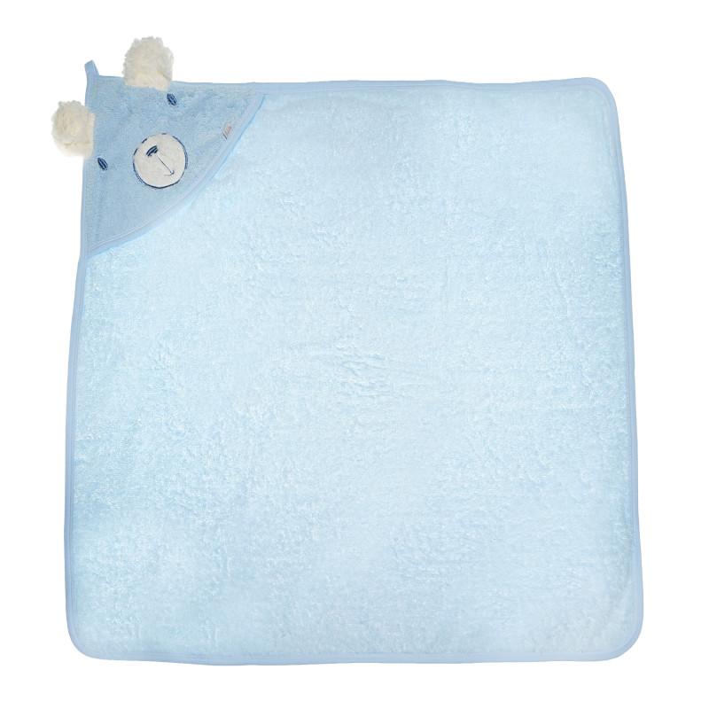 Памучна хавлия с качулка за бебе момче  54541
