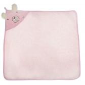 Памучна хавлия с качулка за бебе момиче Bebetto 54543