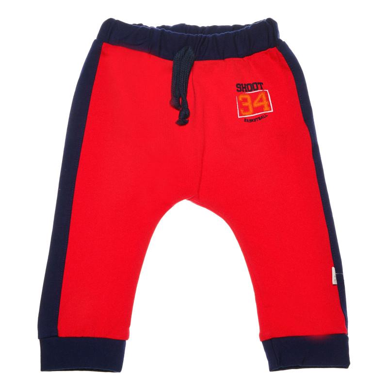 Панталон с тъмносин кант и щампа за бебе момче  54597