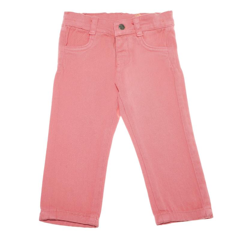 Дънков панталон за момиче светло розов  54829