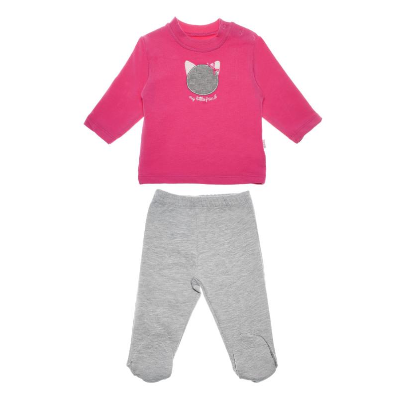 Комплект блуза с ританки за момиче  54936