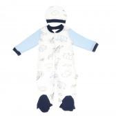 Гащеризон с шапка за бебе момче Bebetto 55197