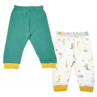 Комплект памучни панталони за бебе - унисекс Bebetto 55275