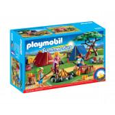 Плеймобил - къмпинг с led огън Playmobil 5717