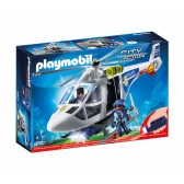 Плеймобил - полицейски хеликоптер с led светлина Playmobil 5727