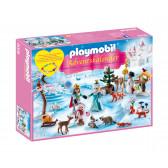 Плеймобил - коледен календар кънки на лед Playmobil 5739
