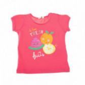 Памучен потник за бебе с цветен принт за момиче Benetton 57943