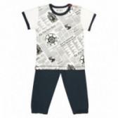 Пижама от 2 части от органичен памук за момче NINI 58472
