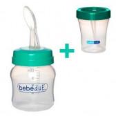 Бебешка бутилка с лъжица BebeDue 58858 2