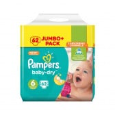 Еднократни пелени размер: 6, 64 бр. Pampers 59845