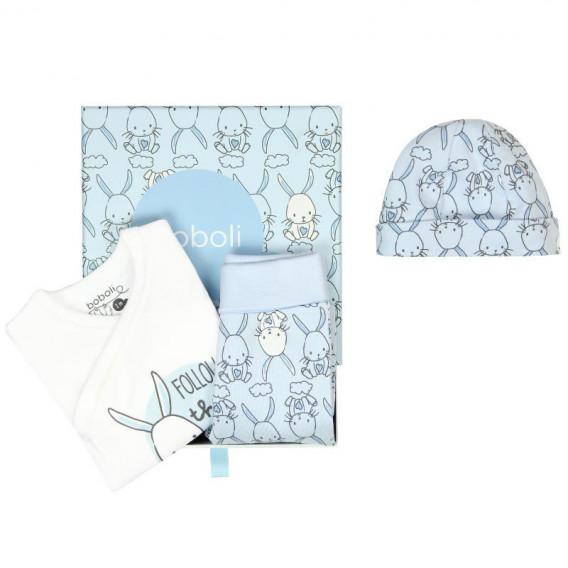 Памучен комплект за бебе от 3 части Boboli 60