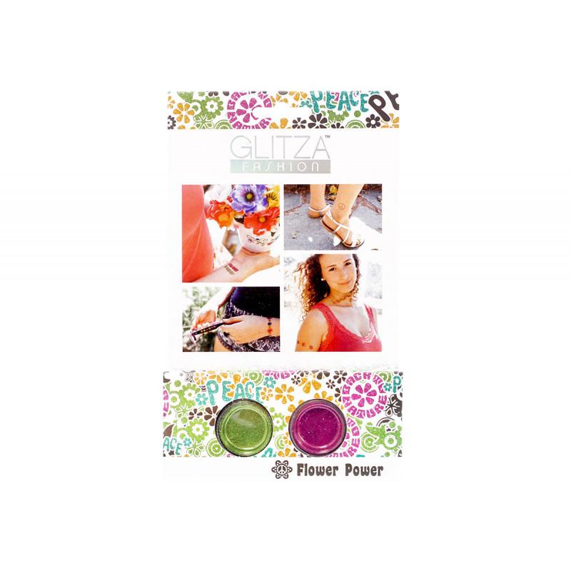 Комплект брокати силата на цветята с 2 цвята бои  6040