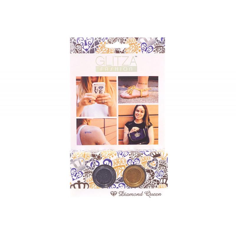 Комплект брокати диамантена кралица с 2 цвята бои  6041