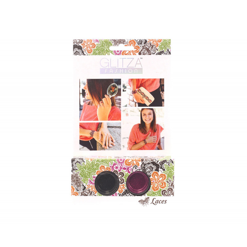 Комплект брокати дантелки с 2 цвята бои  6042