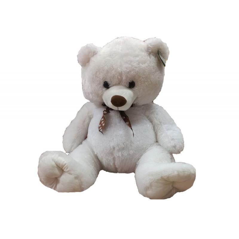 Плюшена играчка - мечка в бяло/бежов цвят, 60 см  6043