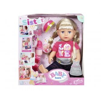 Baby born - кукла с дълга коса и аксесоари Zapf Creation 6078