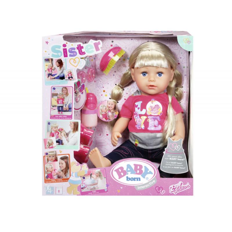 Baby born - кукла с дълга коса и аксесоари  6078