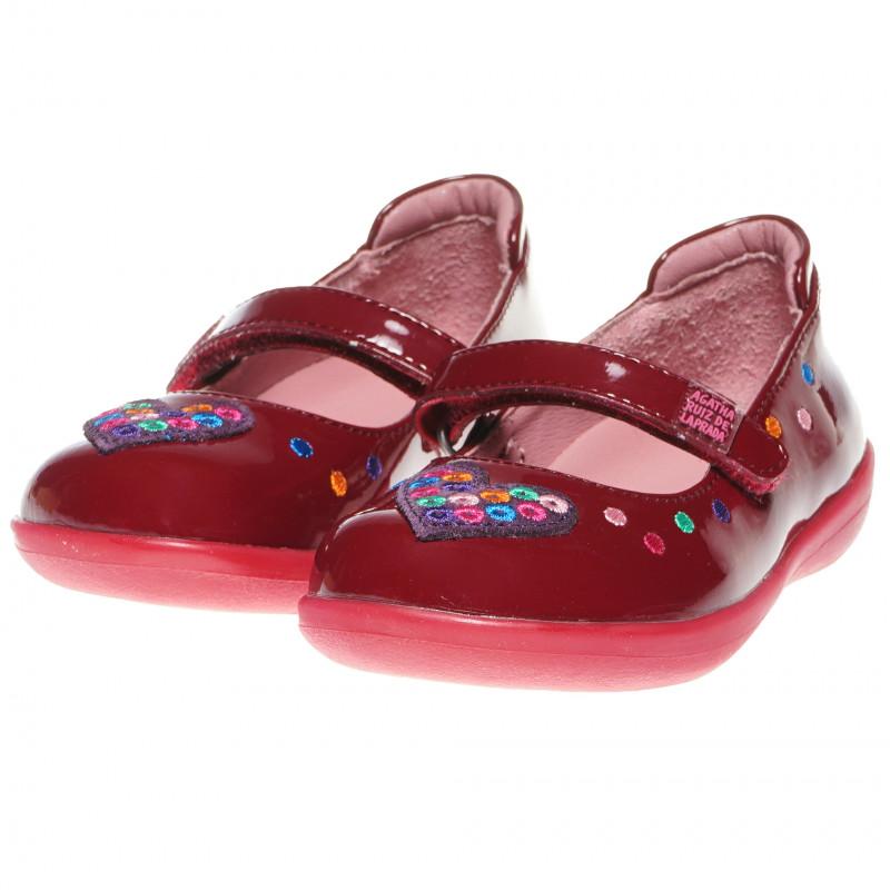 Обувки за момиче тип балеринки със сърце  60951