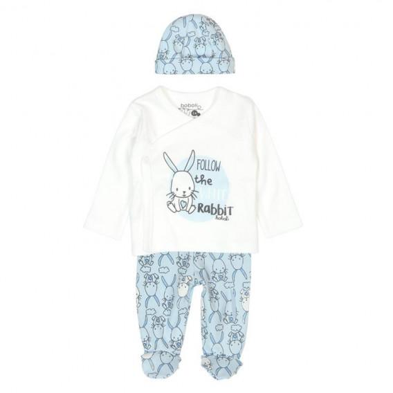Памучен комплект за бебе от 3 части Boboli 61 2