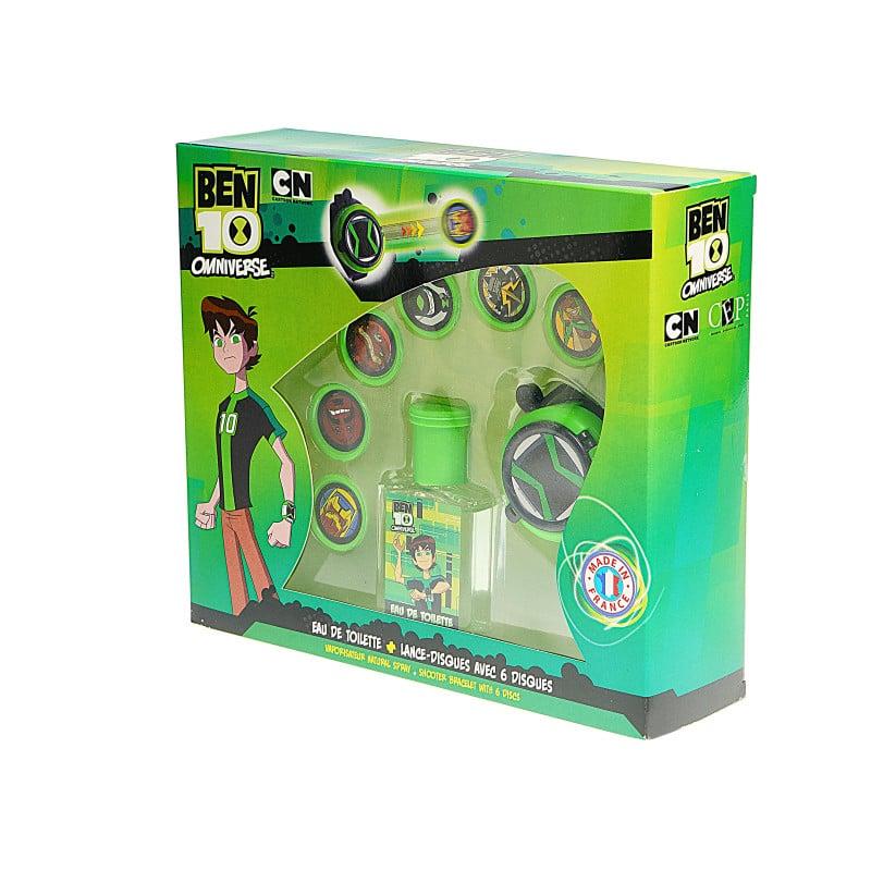 Детски комплект Ben 10 - часовник с дискове и тоалетна вода  61247