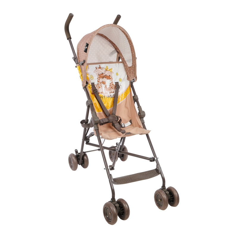 Детска количка light beige & yellow happy family  61435
