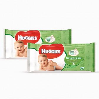 Мокри кърпи Natural Care 2 пакета на цената на 1 Huggies 61445