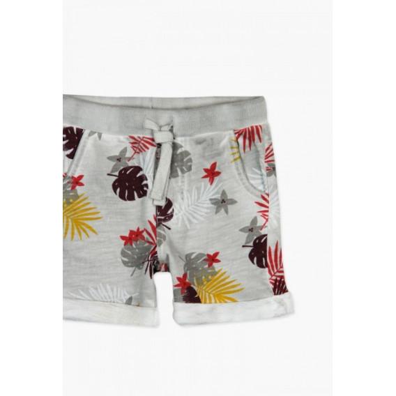 Къси памучни панталони за бебе момче Boboli 64776 3