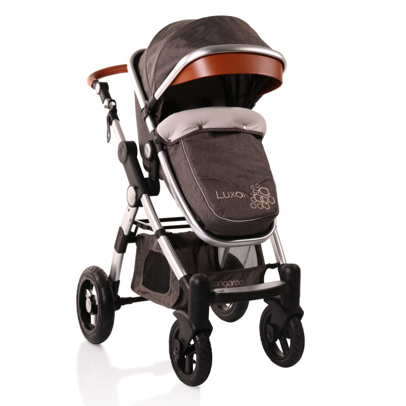 Комбинирана детска количка Luxor 2 в 1, сива  6593