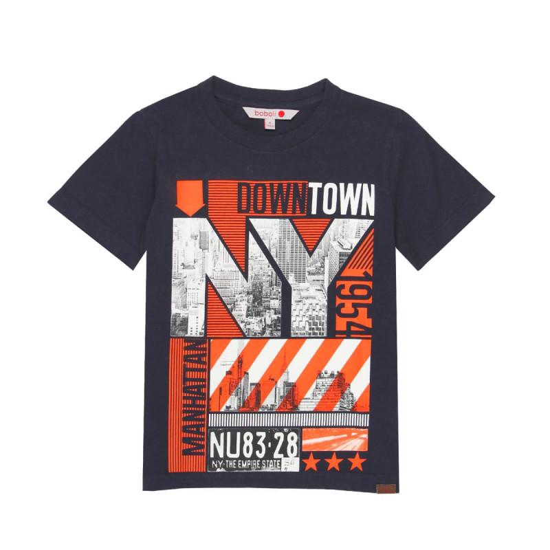 Памучна тениска с модерен принт  за момче  665