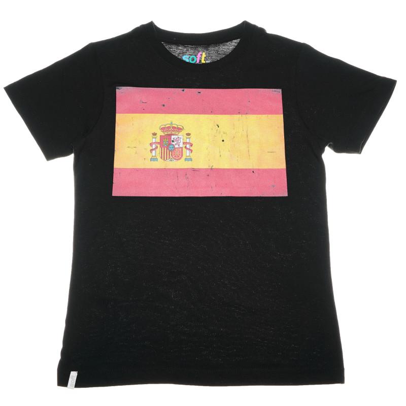 памучна тениска с принт знамето на испания за момче  67182