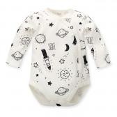 Памучно боди с дълъг ръкав за бебе - унисекс Pinokio 684