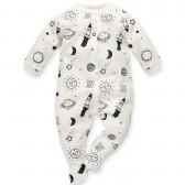 Памучен гащеризон с дълъг ръкав за бебе - унисекс Pinokio 689