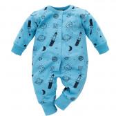 Памучен гащеризон с дълъг ръкав за бебе момче Pinokio 692