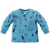 Памучна блуза с дълъг ръкав за бебе момче Pinokio 696