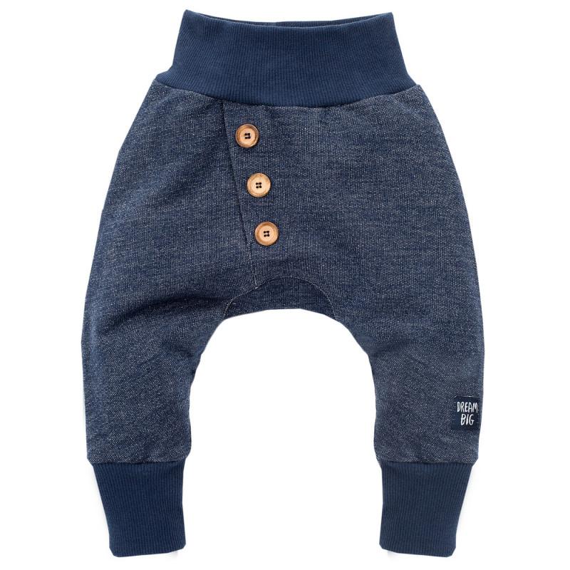 Панталон тип потури в тъмносин цвят с широк ластик за бебе момче  697