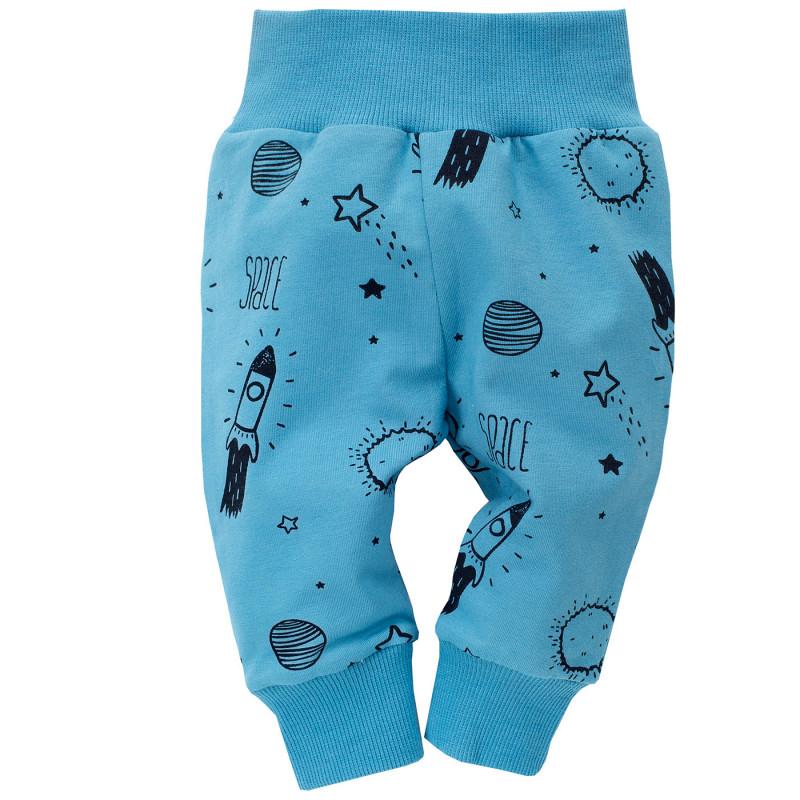 Панталон с космически принт за бебе момче  698