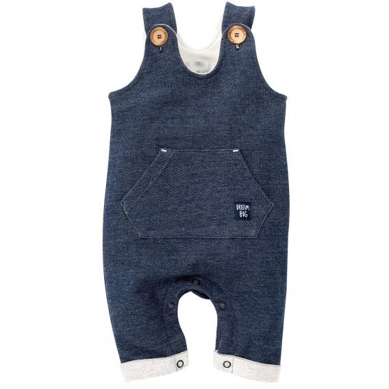 Памучен гащеризон без ръкави за бебе момче Pinokio 699