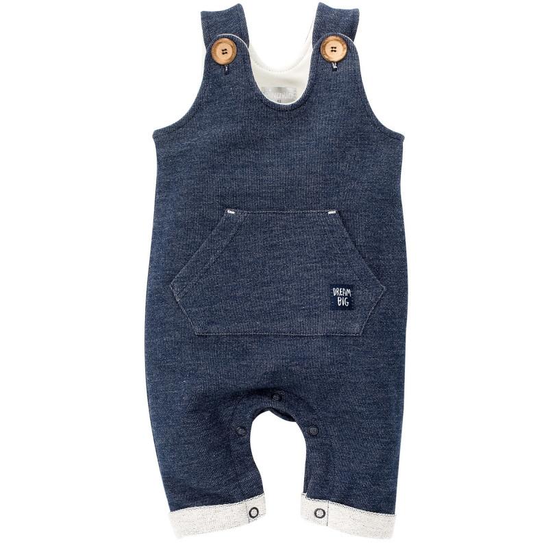 Памучен гащеризон без ръкави за бебе момче  699
