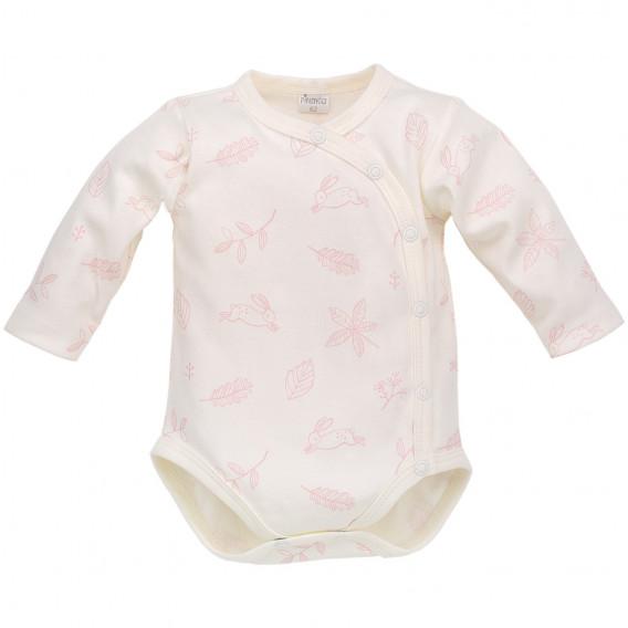 Памучно боди с дълъг ръкав за бебе момиче Pinokio 700