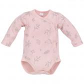 Памучно боди с дълъг ръкав за бебе момиче Pinokio 701