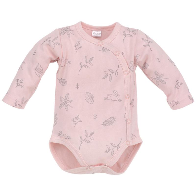 Памучно боди с дълъг ръкав за бебе момиче  701