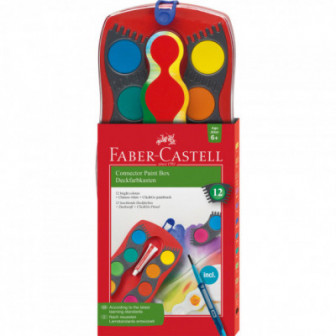 CONNECTOR АКВАРЕЛНИ БОИ 12 ЦВЯТА Faber Castell 70422