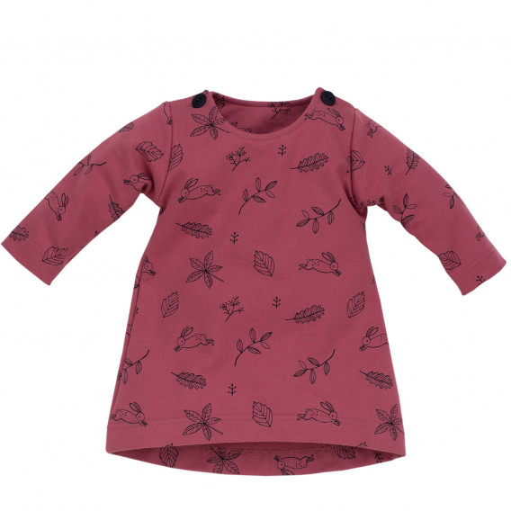 Памучна рокля с дълъг ръкав Pinokio 715