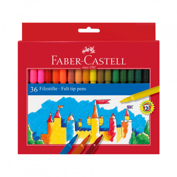 ФЛУМАСТЕРИ 36 ЦВЯТА Faber Castell 72494
