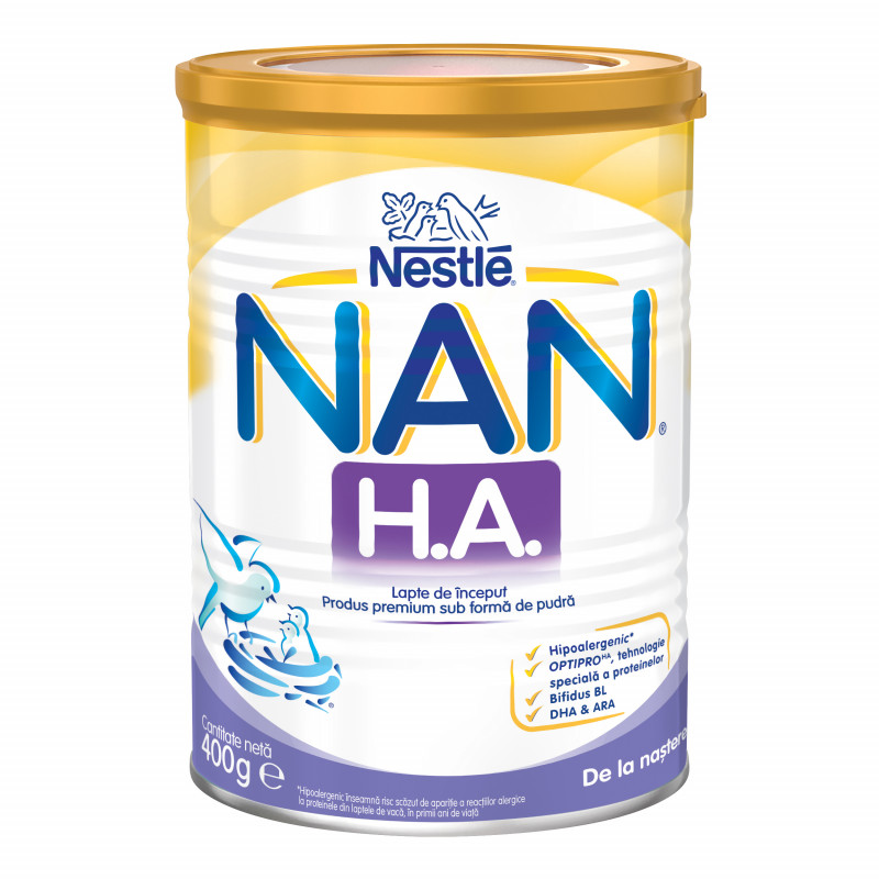 Mляко за кърмачета NAN H.A., новородени, кутия 400 гр.  72900