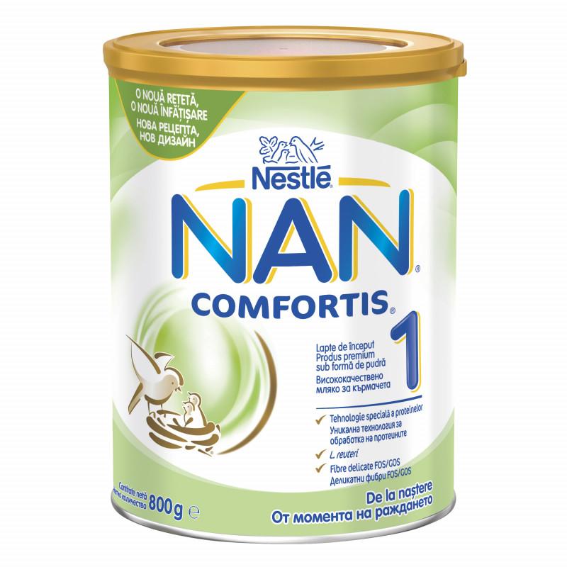 Мляко за кърмачета NAN Comfortis 1 LR Bte, 0+ месеца, кутия 800 гр.  72906