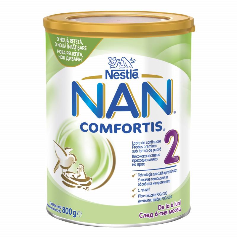 Преходно мляко за кърмачета NAN Comfortis 2 LR Tin, 6+ месеца, кутия 800 гр.  72912