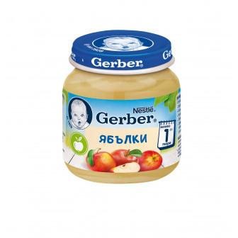 Пюре от ябълки Nestle Gerber, 6+ месеца, бурканче 125 гр. Nestle 73075