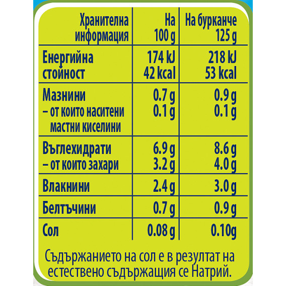 Пюре Супа от зеленчуци Nestle Gerber, 6+ месеца, бурканче 125 гр. Nestle 73081 3